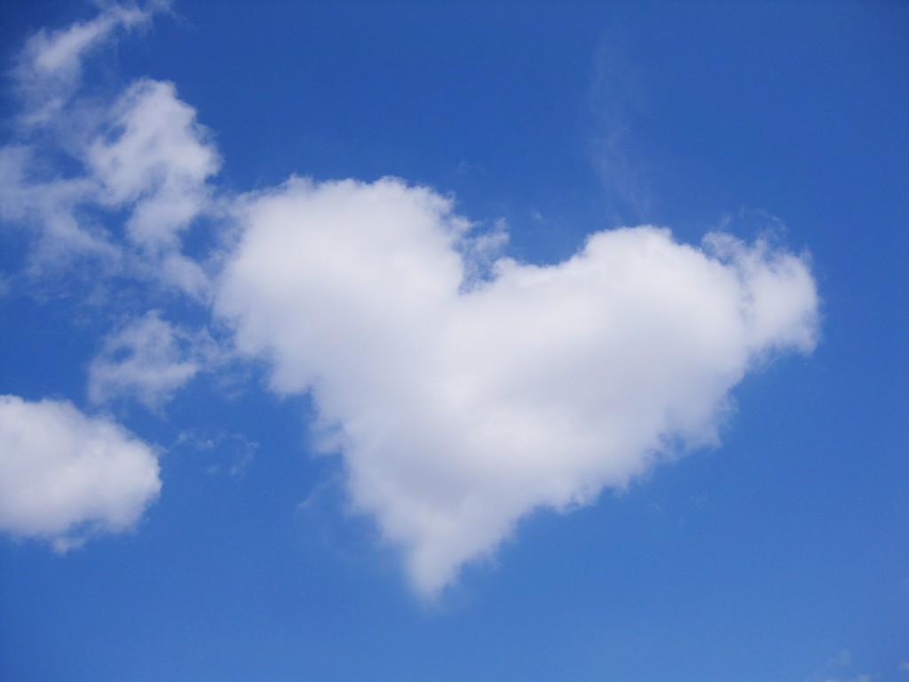 ハートマーク雲