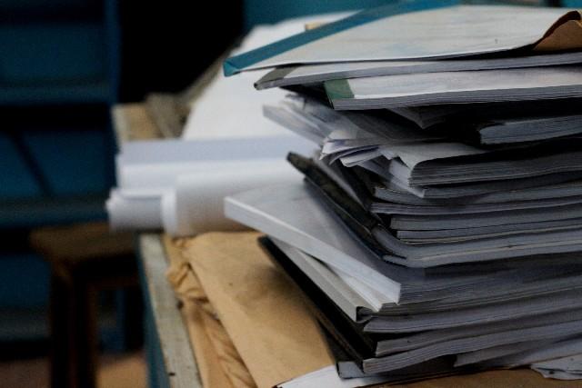 書類が山積み